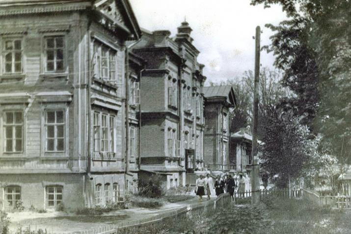 Корпус Пединститута в середине 20-го века