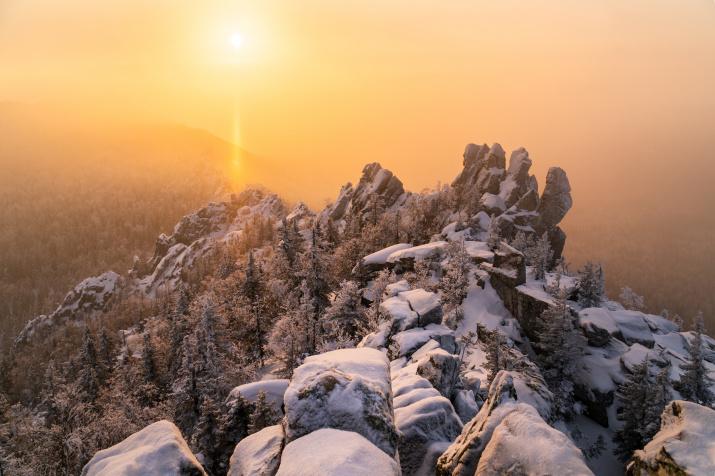 Солнечный столб. Фото: Юрий Уфимцев
