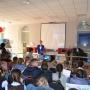 Daria Tsilina speaks to children
