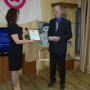 Вручение благодарственного письма Алексею Анненко от Хакасского отделения РГО