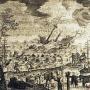 Гравюра о крушении корабля Адама Олеария