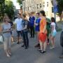 Экскурсия по центральной части Даугавпилса перед практическим туром олимпиады