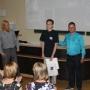 Абсолютному победителю BaltGeo-2016 Олегу Железному вручает диплом Гатис Камперновс