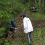 Измерение оврага. Фото предоставлено КОО РГО