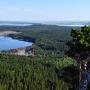 Вид на озера Шалкар и Аиртаучик с сопки Два Брата