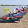 Флаги организаторов (партнеров) российско-казахстанской экспедиции