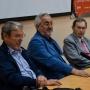 Академики РАН рассказали студентам об актуальных направлениях развития экологии (справа налево): В.В. Рожнов, Г.С. Розенберг, В.Н. Большаков