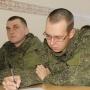 Военнослужащие оренбургского гарнизона отвечают на вопросы Географического диктанта. Фото Владимира Беребина