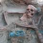 Погребение с ажурными поясными пряжками на могильнике Терезин. Фото предоставлено ИИМК РАН. Экспедиция 2018 года