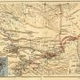 Карта путешествий и открытий Н.М. Пржевальского. Фото из Картографического фонда РГО