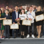 "The winners of the second season of the All-Russian competition ""The Best Guide of Russia"" and the project jury members. Photo: press service of the Russian Geographical Society"