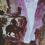 """Картина """"Пушкин в горах Кавказа"""". Автор: С. Цихелашвили"""