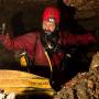 Геннадий Самохин в пещере Крестовой. Фото: Сергей Ляховец. Из личного архива Г. Самохина