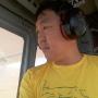 Батаар Убушаев во время авиапатрулирования. Из личного архива