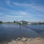 Разлив р. Оша в июле 2019. с. Большие Туралы Тарского района Омской области. Вид с моста на ул. Солдатская