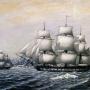 """Шлюпы """"Восток"""" и """"Мирный"""" у берегов открытой ими Антарктиды в январе 1820 года. Источник: wikipedia.org"""