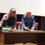 Президент Саудовского географического общества доктор Али Аль Досари и Первый Вице-президент РГО, академик Николай Касимов. Фото предоставлено организаторами мероприятия