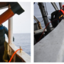 """Fig. 11. Work on the SMP determination by a specialist of the JSC """"Yuzhmorgeologiya"""" M.G. Kuzyakin, carried out with a proton marine magnetometer in the D'Urville Sea."""