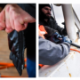 Fig. 15. Preparation of a towed fish of the marine proton magnetometer for immersion