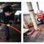 """Fig.16. Hoisting the fish of the marine proton magnetometer by the oceanographic research vessel """"Admiral Vladimirsky"""" crew, including the head of the expedition, Captain 1st Rank Osipov O.D."""