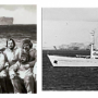 """Fig. 8. The oceanographic research vessel """"Admiral Vladimirsky"""" and the participants of the Antarctic round-the-world expedition of the Navy of the USSR (1982-1983)"""