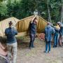 Установка палатки БАМ во время выезда Молодежной Географической школы «География: четыре сезона»