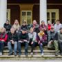 Фотография перед завершением выезда Молодежной Географической школы «География: четыре сезона»