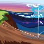 Иллюстрация. Оползни, вызывающие цунами. Дизайнер: Дарья Сокол, пресс-служба МФТИ. С сайта mipt.ru