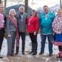 Главы делегаций шести организаций-постоянных участников из числа коренных народов на встрече высокопоставленных официальных лиц Арктики в Джуно (Аляска, США) в 2017 году. Фото: Arctic Council Secretariat / Linnea Nordström