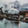 Вид на Рускеальский экспресс с горы Хернямяки. Автор: Александр Державин, Санкт-Петербург