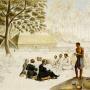 Завтрак у Оттаитского короля. Акварель из альбома Павла Михайлова. 1820 г.